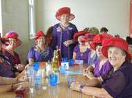 SINCE the Red Hat Society began in America 15 years ago, it has become an international organization.