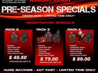 Get your team outfitted professionally for less with Kombat's Pre-Season Specials, which is on offer for only a limited time.