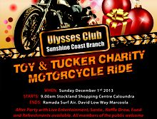 Ulysses Sunshine Coast Toy & Tucker Ride